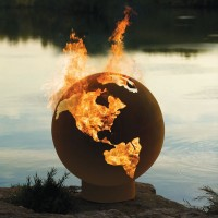 The Athletes' Village Fire Pit Globe