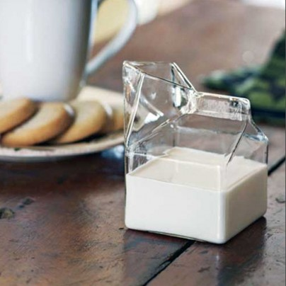 Half Pint Glass Mini Milk Carton